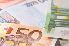 Het liggen bankbiljetten Royalty-vrije Stock Foto
