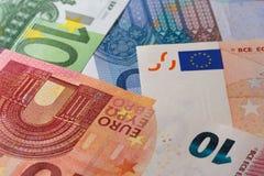 Het liggen bankbiljetten Royalty-vrije Stock Afbeelding