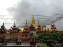 Het liggen Boedha in Pha die Luang-stupa in Vientiane, Laos Stock Foto