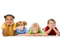 Het liggen kinderen royalty-vrije stock foto