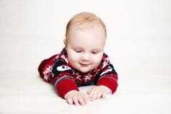 Het liggen leuke baby Royalty-vrije Stock Foto