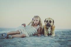 Het liggen in het strand Royalty-vrije Stock Fotografie