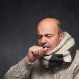 Het lijden aan griepvirus royalty-vrije stock foto