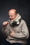 Het lijden aan griepvirus royalty-vrije stock fotografie