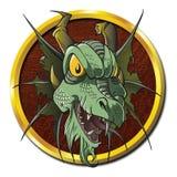 Het lijk van zombiedragon creature vector illustratie