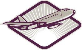 Het lijnvliegtuig van de jumbojet het opstijgen Royalty-vrije Stock Foto's