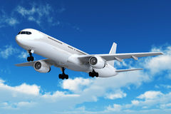 Het lijnvliegtuigvlucht van de passagier Stock Foto's