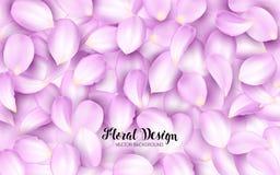 Het likken van de roze bloemblaadjes van een bloem op een stapel Effect Realistische Ontwerpelementen Vector illustratie Bloemen  stock illustratie