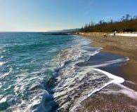 het likken van het zand royalty-vrije stock foto