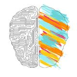 Het linker en juiste concept van hersenenfuncties stock illustratie
