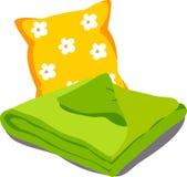 Het linnen van het kleurenbed Stock Foto