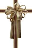 Het lint en de boog van de gift. Stock Foto
