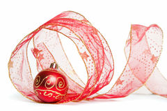 Het Lint en de Snuisterij van Kerstmis Stock Afbeelding
