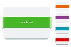 Het Lint van de banner met Kleuren - EPS Vector Stock Afbeelding