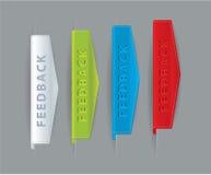 Het lint van de luxe koppelt pictogrammen terug - pijlen voor uw website. Stock Afbeeldingen