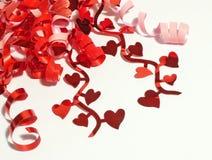Het lint van valentijnskaarten Royalty-vrije Stock Foto's