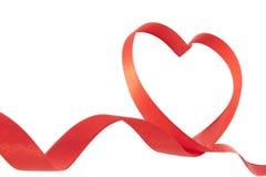 Het linthart van valentijnskaarten Stock Afbeeldingen
