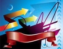 Het lintontwerp van Decorativ Stock Fotografie