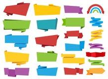 Het Lintvector van de etiketbanner stock foto