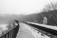Het Llangollen-Kanaal in de Winter Royalty-vrije Stock Afbeelding