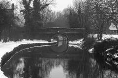 Het Llangollen-Kanaal in de Winter Royalty-vrije Stock Foto's