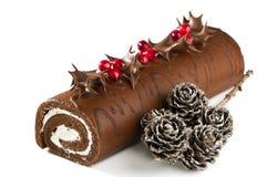 Het Logboek van Yule van Kerstmis Royalty-vrije Stock Afbeeldingen