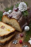 Het logboekcake van de Kerstmischocolade yule stock fotografie