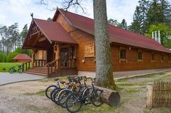 Het lokale restaurant in het natuurreservaat van Belovezhskaya Pushcha Stock Afbeeldingen