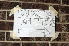 Het lokale Teken van de Muziek Royalty-vrije Stock Afbeelding