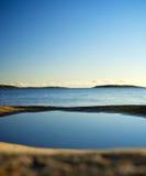 Het longing van watermassa's voor de oceaan stock foto