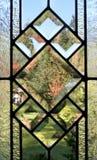 Het lood paned venster royalty-vrije stock foto