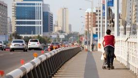 Het lopen in Astana Royalty-vrije Stock Foto's