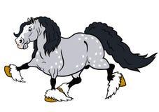Het lopen beeldverhaal zwaar paard Royalty-vrije Stock Afbeelding
