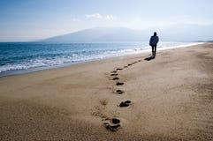 Het lopen bij het strand Royalty-vrije Stock Afbeelding
