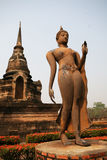 Het lopen Boeddhisme, Sukhothai Royalty-vrije Stock Fotografie