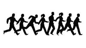 Het lopen businessteam Stock Foto