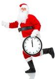Het lopen de Kerstman van Kerstmis Stock Afbeelding