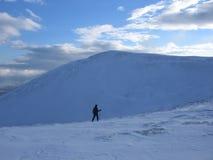 Het lopen in de Schotse hooglanden stock foto's
