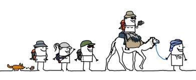 Het lopen in de woestijn vector illustratie