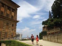 Het lopen in Florence Royalty-vrije Stock Foto's