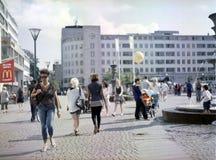 Het lopen in Gustav Adolf Torg Royalty-vrije Stock Fotografie
