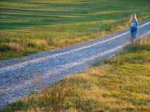 Het lopen in het land Royalty-vrije Stock Fotografie