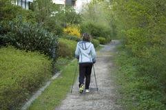 Het lopen in het park Royalty-vrije Stock Foto