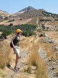 Het lopen in Kreta Stock Fotografie