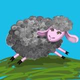 Het lopen leuke schapen stock foto's
