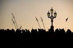 Het lopen in Londen Stock Afbeeldingen