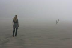 Het lopen in mist Royalty-vrije Stock Afbeelding