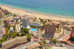 """Het lopen op de straten - het strand van Valencia Spanje Valencia †het """"beste van moderne en historisch stock foto"""