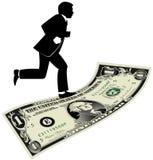 Het lopen op een Dollar Stock Foto