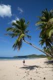 Het lopen op een tropisch strand Royalty-vrije Stock Fotografie
